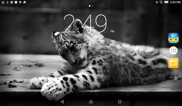 Snow Leopard Live Wallpaper apk screenshot