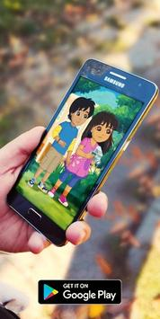 Cartoon Dora HD Collection Wallpaper screenshot 1