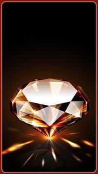 HD Shiny Diamond Wallpapers - Gold poster