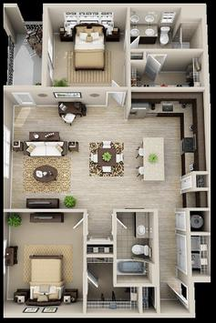 3D floor plans designs apk screenshot