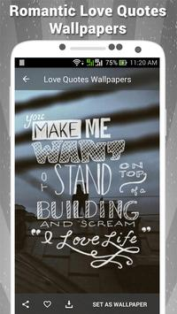 Love Quotes Wallpapers apk screenshot