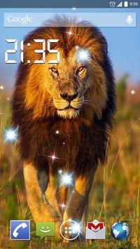 Gorgeous Lion 4K Live Wallpap poster