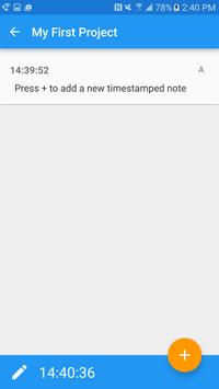 Timecode Notes apk screenshot