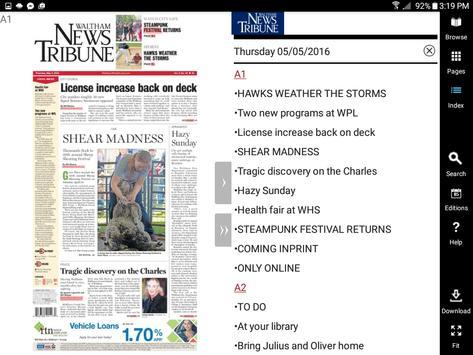 Waltham News Tribune ePaper apk screenshot