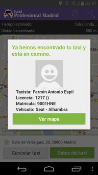 Taxi Profesional Madrid screenshot 3