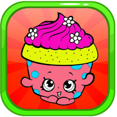 Coloring Book Shopkins Game Drawing Free icon