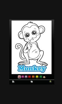 animal coloring Book for Kids poster