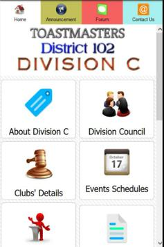 Toastmasters D102 Div C poster