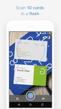 Wantedly People scan biz cards poster