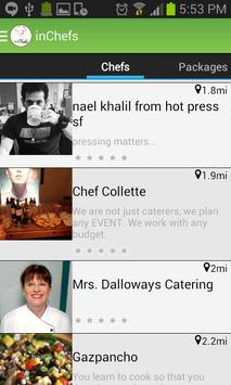 inChefs Android app screenshot 1