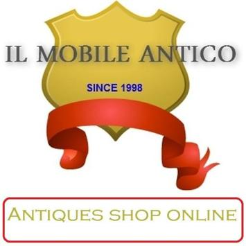 Antichità online enjoy antiques poster
