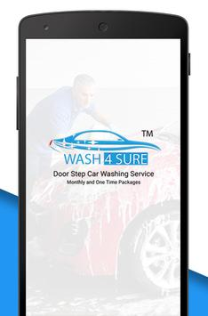 WASH4SURE – DOORSTEP VEHICLE CLEANING poster