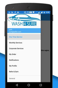 WASH4SURE – DOORSTEP VEHICLE CLEANING screenshot 5