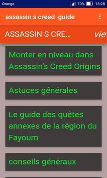 Guide pour Assassin's creed origin screenshot 1