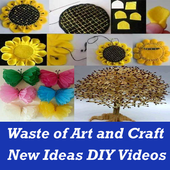 Waste Material Art and Craft Ideas with VIDEO App icon