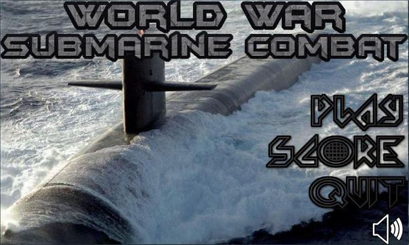 world war submarine combat poster