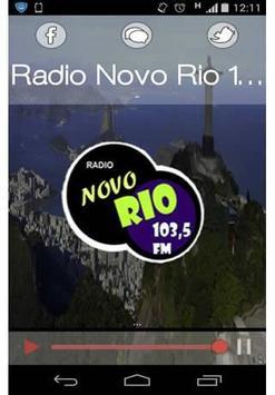 Radio Novo Rio 103,5 FM poster