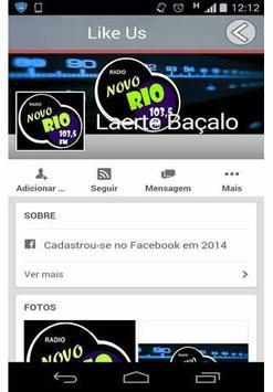 Radio Novo Rio 103,5 FM screenshot 1