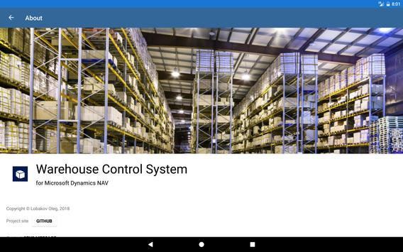Warehouse Control System poster