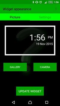 Custom Clock Widget apk screenshot