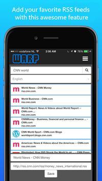 Warp News -Listen to your news screenshot 2