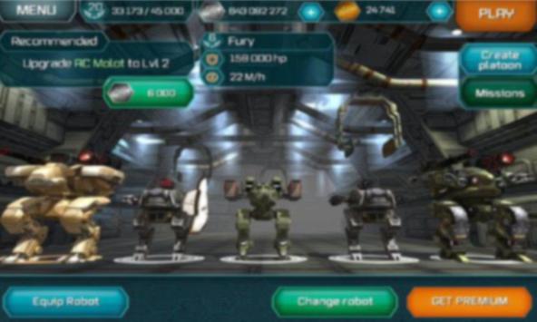 Free War Robots Cheats apk screenshot