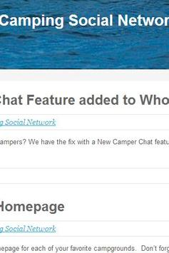 WhoIsCamping Social Network poster