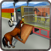 Wild Horse Zoo Transport Truck Simulator Game 2018 icon