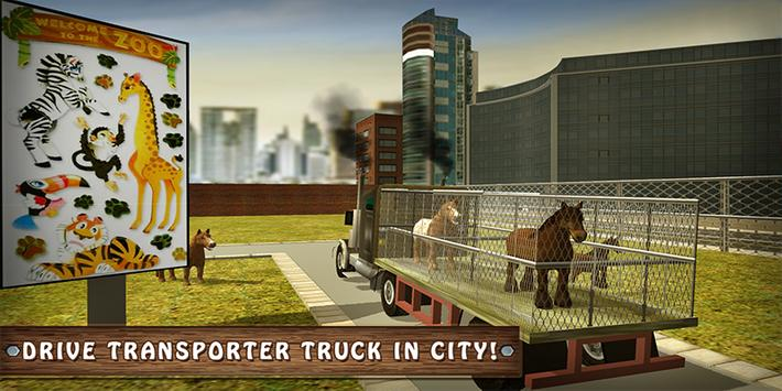 Wild Horse Zoo Transport Truck Simulator Game 2018 poster