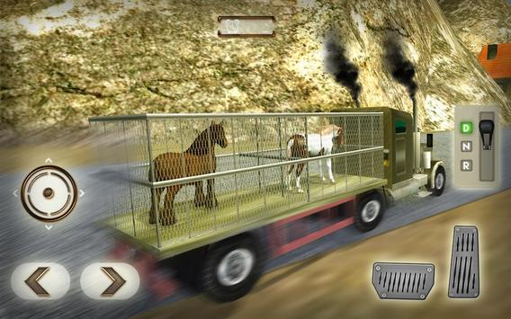 Wild Horse Zoo Transport Truck apk screenshot