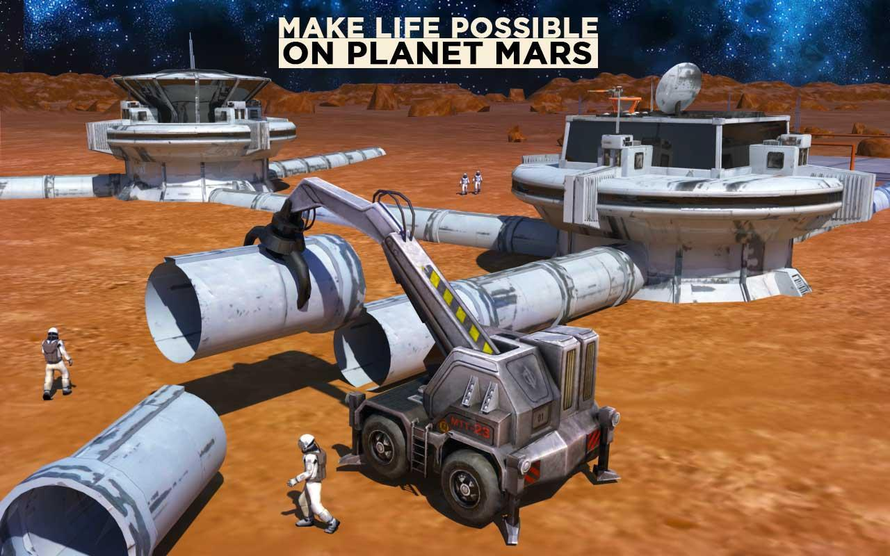 Space Station Construction City Planet Mars Colony for Android - APK