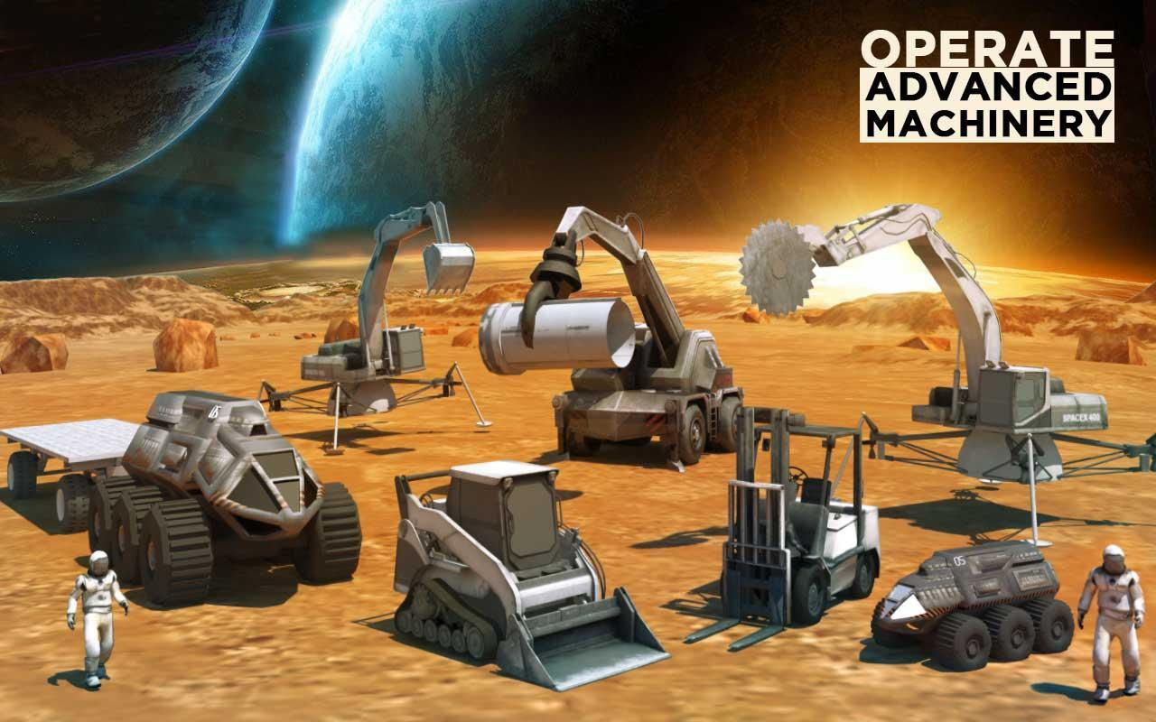 Space Station Construction City Planet Mars Colony for