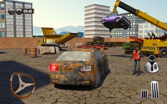 Monster Car Crusher Crane 2k17: City Garbage Truck apk screenshot