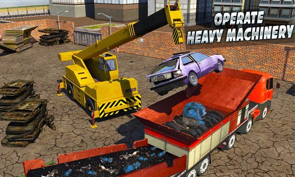 Monster Car Crusher Crane 2k17: City Garbage Truck poster