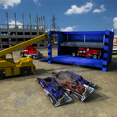 Wrecked Truck Crusher Crane 3D icon