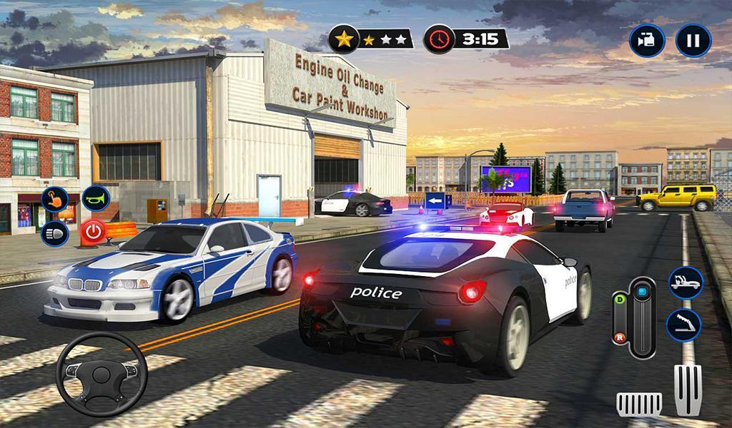 Android Icin Polis Arabasi Yikama Hizmeti Gaz Istasyonu Oyunu