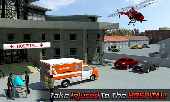 Ambulance Rescue Helicopter 3D poster