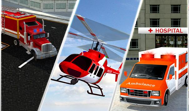 Ambulance Rescue Helicopter 3D screenshot 14