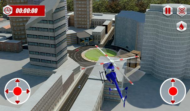 Ambulance Rescue Helicopter 3D screenshot 12