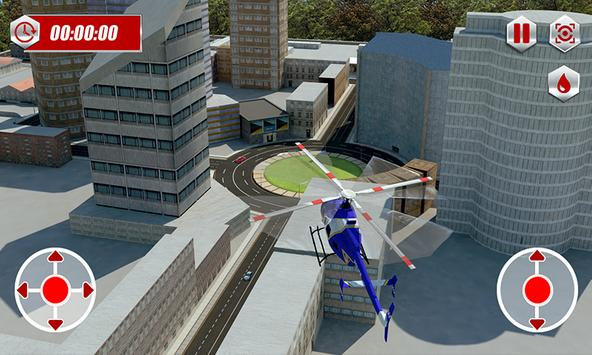 Ambulance Rescue Helicopter 3D screenshot 2