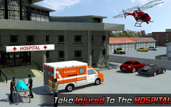 Ambulance Rescue Helicopter 3D screenshot 5