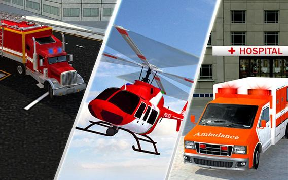 Ambulance Rescue Helicopter 3D screenshot 9