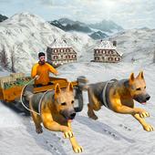 Snow Dog Sledding Transport: Dog Simulator Games icon