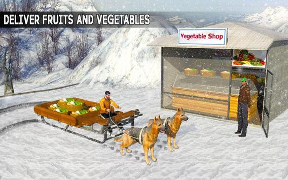 Snow Dog Sledding Transport: Dog Simulator Games apk screenshot