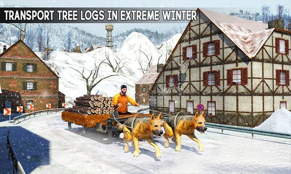 Snow Dog Sledding Transport: Dog Simulator Games poster