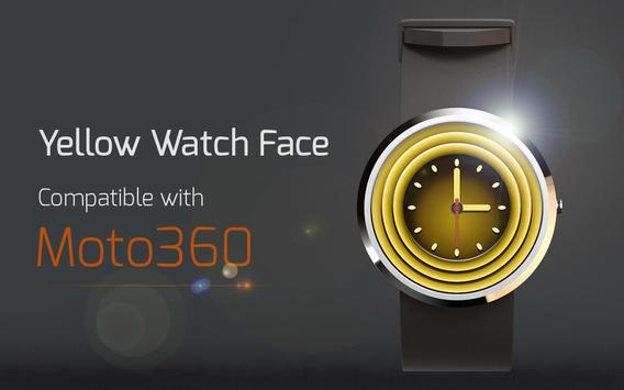 Yellow Watch Face poster