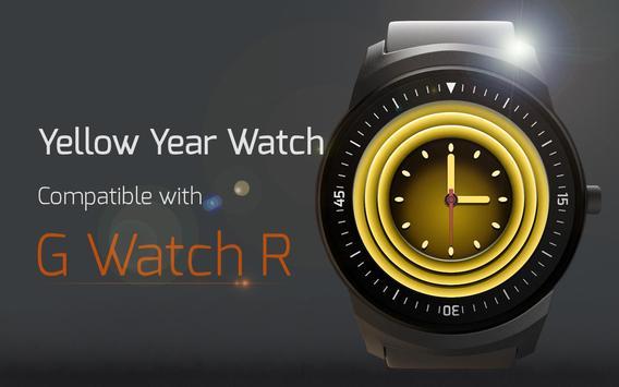 Yellow Watch Face apk screenshot