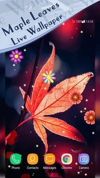 Magic Ripple - Maple Leaves Live Wallpaper poster