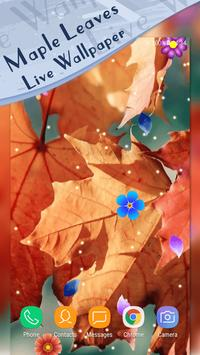 Magic Ripple - Maple Leaves Live Wallpaper screenshot 1