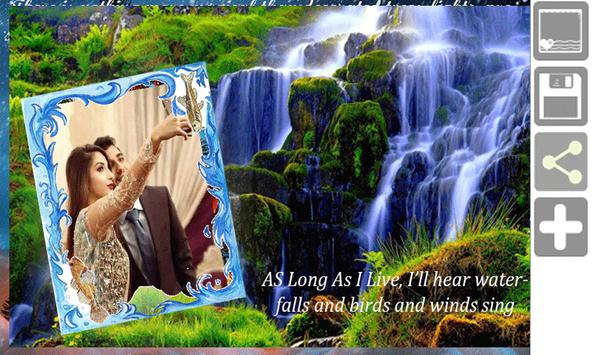 Waterfall live photo frames apk screenshot